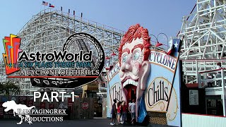 An amusement park that once stood proud next to Six Flags Over Texas and Six Flags Fiesta Texas now rests forgotten from the minds of many. Hear the whole story of this once-prominent Texas park that used to have some of the world's greatest roller coasters! Welcome to Six Flags AstroWorld: A Cyclone of Thrills; the third narrative documentary from RampagingRex Productions.A project so huge it had to be split into two! In part one of AstroWorld's story, learn about the construction and origins of the park in 1967, as well as all the major attractions up to the year 1990! Featured rides include the Texas Cyclone, Ultra Twister, Alpine Sleigh Ride, and Greezed Lightnin'.Researched, written, and narrated by Jonathan Baker.SPECIAL THANKS TO THOSE WHO GAVE ME PERMISSION TO USE THEIR FOOTAGE:Andrew Marshall/PsycloneSteve: https://www.youtube.com/user/psyclonesteveJohnYChen: https://www.youtube.com/user/johnychenV for Victory by Audionautix is licensed under a Creative Commons Attribution license (https://creativecommons.org/licenses/by/4.0/)Artist: http://audionautix.com/
