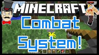 Minecraft 1.8 COMBAT SYSTEM! Critical Hits, Chargeable Bows, Sword Blocking!