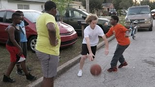 Playing Basketball In The Hood!