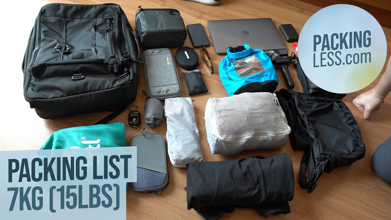 Picture of [August 2019] Travelling Mild 7kg (15pounds) Backpack Excursion Packing Listing with Personal computer  Digicam and GoPro