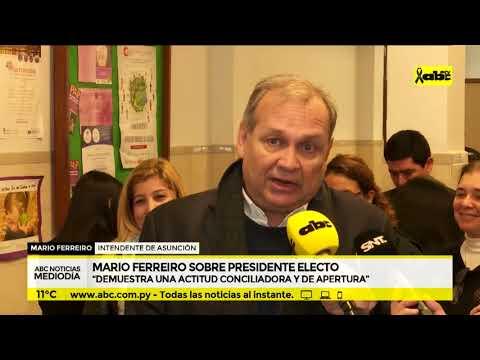 Mario Ferreiro sobre presidente electo