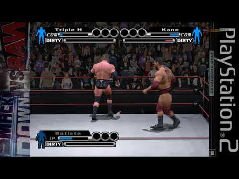 WWE SmackDown Vs RAW 2004 2005 PS2 Season mode as The Animal Batista Raw WrestleMania Final