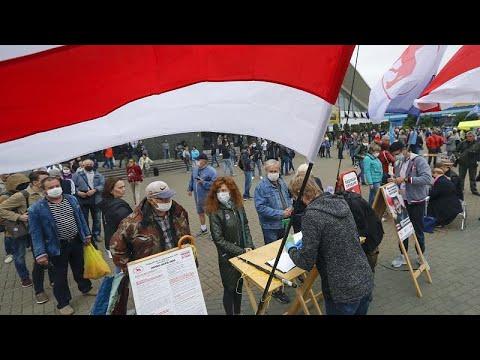 Λευκορωσία: Αντικυβερνητική διαδήλωση εν όψει των προεδρικών εκλογών του Αυγούστου…