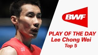 Video Lee Chong Wei - Top 5   Badminton   Play Of The Day MP3, 3GP, MP4, WEBM, AVI, FLV Agustus 2018
