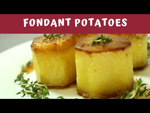Potatoes melt in your Mouth | Fondant Potatoes | Roasted with Butter and Chicken Stock