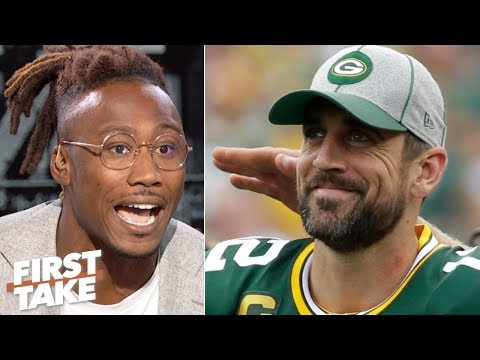 Video: Brandon Marshall downplays Aaron Rodgers' heated exchange with coach Matt LaFleur | First Take