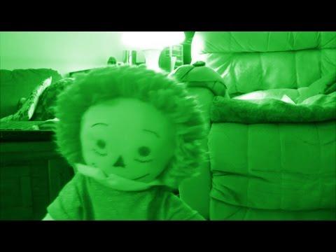 LIVING DOLL CAUGHT ON NIGHTVISION CAMERA (original footage)