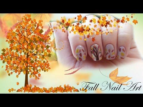nail art fiori autunno