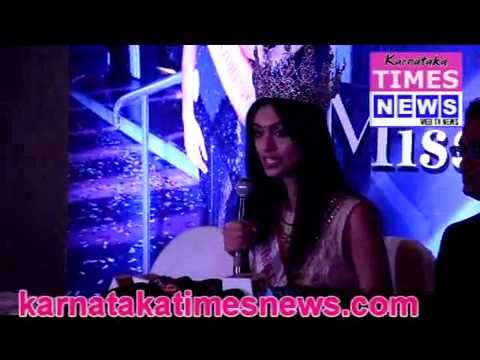 Femina Miss India runner up Aafreen  Vaz in Mangaluru.