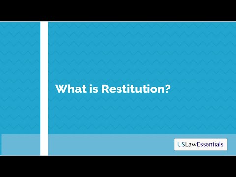 What is restitution?