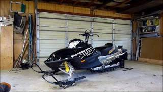 9. Arctic Cat Firecat 700's rev up! EXT & SnoPro With Cans!