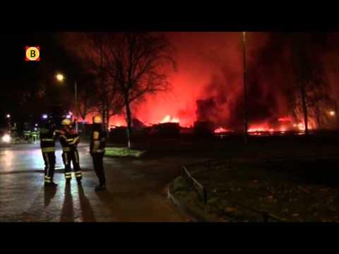 Stadssporthal Tilburg in puin na grote brand