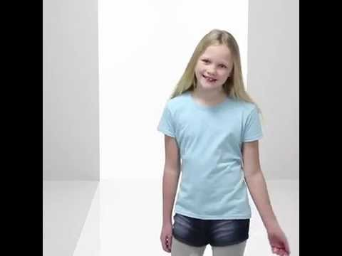 Fruit of the Loom - Mädchen T-Shirt 'Girls Valueweight T'
