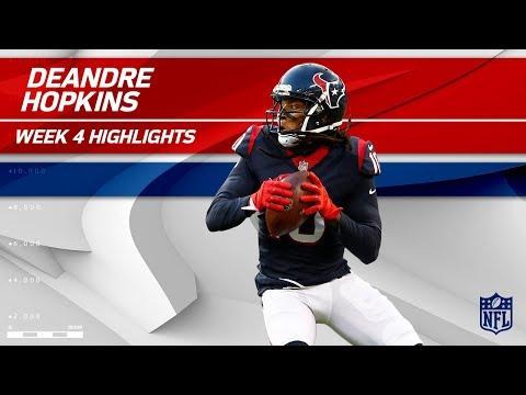 Video: DeAndre Hopkins' 10 Grabs, 107 Yards & 1 TD | Titans vs. Texans | Wk 4 Player Highlights