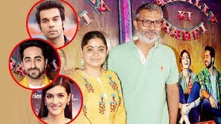 Ayushmann Khurrana along with director Nitesh Tiwari and wife Ashwiny Iyer Tiwari launched the trailer of their upcoming movie 'Bareilly Ki Barfi' starring him, Kriti Sanon and Rajkummar Rao which is directed by 'Dangal' director Nitesh Tiwari's wife Ashwiny Iyer Tiwari. At this trailer launch Director Ashwiny Iyer Tiwari defines the different shades of Ayushmann Khurrana, Kriti Sanon, and Rajkummar Rao. Take a look!Watch latest Bollywood gossip videos, latest Bollywood news and behind the scene Bollywood Masala. For interesting Latest Bollywood News subscribe to Biscoot TV now : http://www.youtube.com/BiscootTVLike us on Facebookhttps://www.facebook.com/BiscootLiveFollow us on Twitterhttp://www.twitter.com/BiscootLiveFor Latest Bollywood News Subscribe us on Youtube http://www.youtube.com/c/BiscootTVCircle us on G+ https://plus.google.com/+BiscootLiveFind us on Pinteresthttp://pinterest.com/BiscootLive