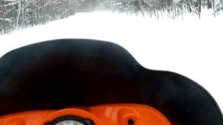 9. Arctic Cat Crossfire 6 Sno Pro Lake of the clouds trail in Michigan December 2007