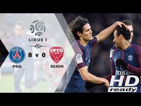 PSG v Dijon 8-0 Ligue 1 - Pesta 8 Gol, Cavani Samai Ibrahimovic   Highlights & Goals  18-01-2018