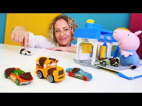 Spielspaß mit Nicole - Autowaschanlage für Schorsch - Tolle Spielzeugautos