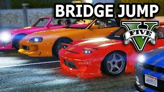 Nonton GTA V - 2 Fast 2 Furious Bridge Jump Scene Film Subtitle Indonesia Streaming Movie Download