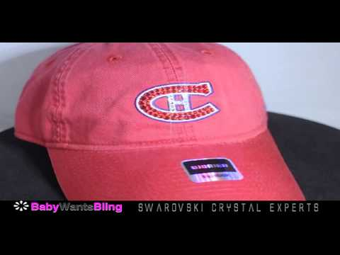 Montreal Canadiens Bling Womens Hat Cap Swarovski Crystal Rhinestones Reebok