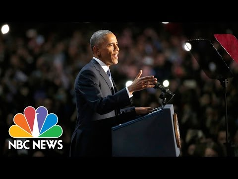 Download President Barack Obama's Farewell Address (Full Speech) | NBC News HD Mp4 3GP Video and MP3