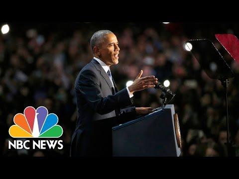 Download President Barack Obama's Farewell Address (Full Speech) | NBC News HD Mp4 3GP Video and MP3