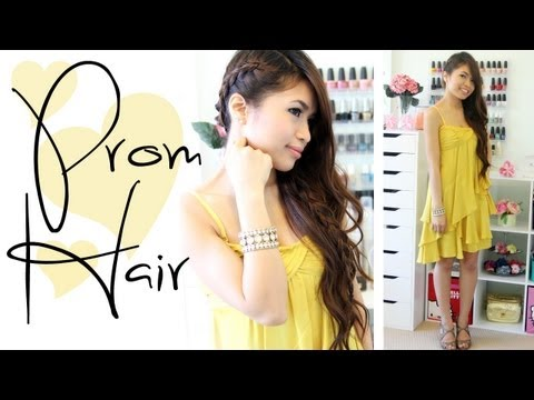 Prom Hairstyle: Side-Swept Braid Long Hair Tutorial – Bebexo