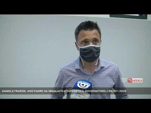 DANIELE FRARON: «MIO PADRE HA SBAGLIATO E SUPPORTO IL GOVERNATORE» | 06/07/2020