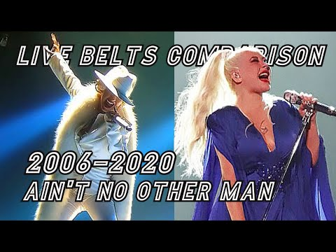 """Christina Aguilera LIVE BELTS COMPARISON - """"Ain't No Other Man"""" Opening Note (2006-2020)"""