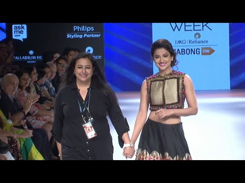 Gauhar Khan On Ramp For Desinger Shruti Sancheti At LFW 2015