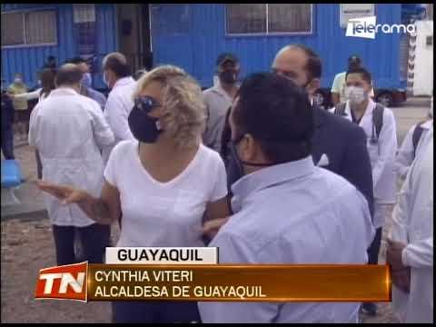 En Guayacanes se hicieron trabajos de fumigación y desinfección