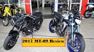 10. 2017 Yamaha MT 09 VS 2016 / MT 09 changes and quick review !!