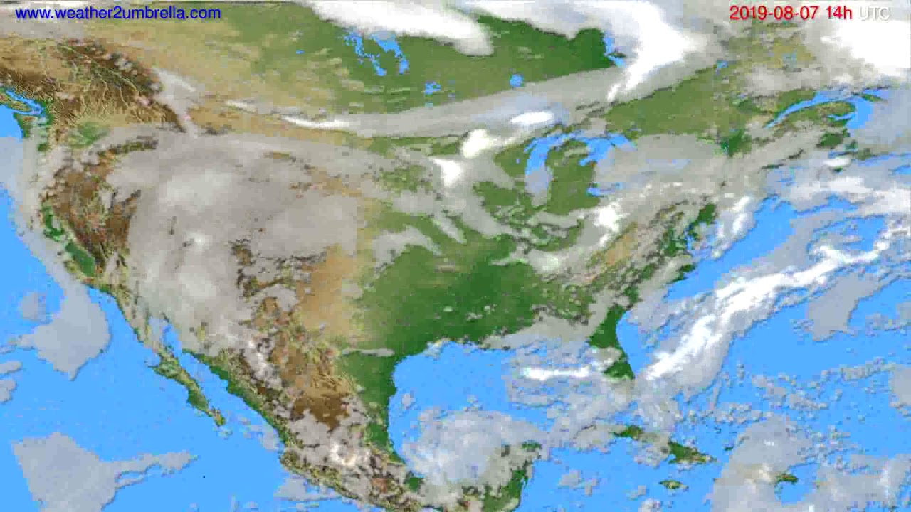Cloud forecast USA & Canada // modelrun: 00h UTC 2019-08-05
