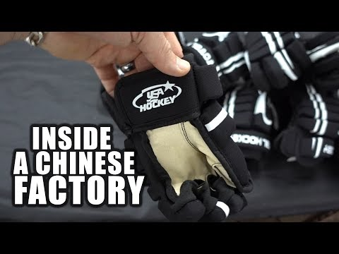 Visiting hockey factories in CHINA!
