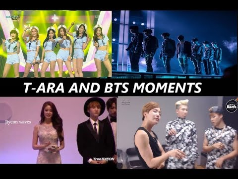 T-ARA AND BTS MOMENTS  - CUTE INTERACTION ALL MOMENTS 2013 -2018