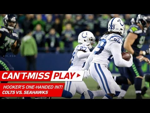 Video: Malik Hooker's One-Handed INT & Sick Stiff Arm! | Can't-Miss Play | NFL Wk 4 Highlights