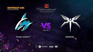Team Adroit vs Mineski, TI9 Qualifiers SEA, bo3, game 1 [Mila & Mortalles]
