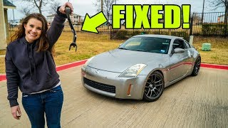 VICTORIA FIXES MY WRECKED 350Z! by Evan Shanks