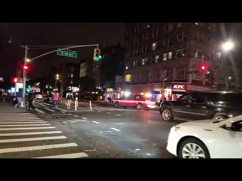 FDNY Battalion 14 Responding On East 14th Street In Manhattan, New York.