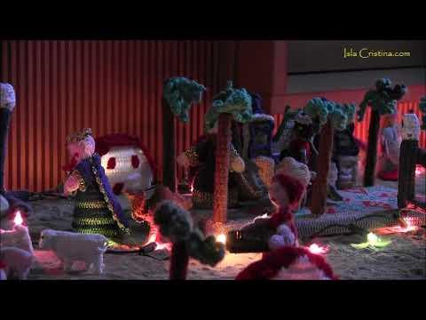 Precioso Portal de Belén tejido a Crochet. Isla Cristina