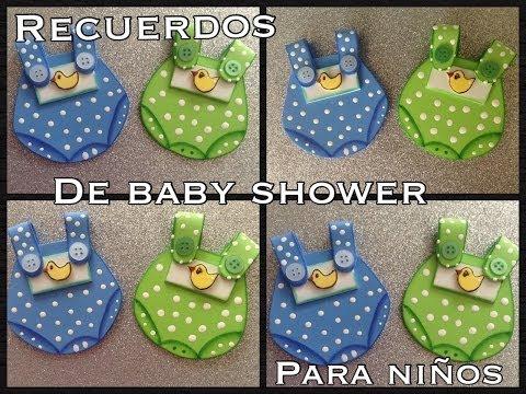 RECUERDOS  DE BABY SHOWER PARA NIÑO EN FOAMY O GOMA EVA.