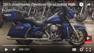 2. 2015 Used Harley Davidson Ultra Limited Walk around