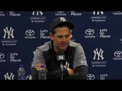 Yankees manager Aaron Boone: First base not an option for Aaron Judge or Giancarlo Stanton | ESPN