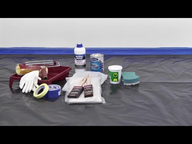 Śnieżka Satynowa   przygotowanie podłoża i narzędzi do malowania