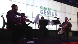 Kuumba Youth Music Quartet performing at Generating Genius Academy