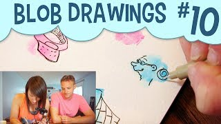 Random Shapes Drawing Challenge  Easy Drawing Challenge For Kids!All blob videos: https://www.youtube.com/playlist?list=PLDBcpqbLoA6cGsecTHpC8Ixg9UTcgMf5ZI'm back with another video about making drawings out of random shapes! Many of you enjoyed my previous watercolor cartoon challenge, so I thought it'd be fun to try again. Special guest star: my husband, Justin ^_^Subscribe to peer into a day in the life of a freelance illustrator, and share if you care! :] Try this watercolor art challenge with random shapes, and show me what you make! Use the hashtag #pigknit on Instagram or Twitter, and don't forget to tag me @pigknit so I see!Last Video: https://www.youtube.com/watch?v=eofCKlGLrSAShop Here: https://www.etsy.com/your/shops/pigknit/tools/listings/section:19896210------------------------------------------------------------------------------------------Filming Equipment Used:Canon Powershot S110: https://www.amazon.com/gp/product/B009B0MYSQ/ref=as_li_tl?ie=UTF8&camp=1789&creative=9325&creativeASIN=B009B0MYSQ&linkCode=as2&tag=pigknit-20&linkId=61eb3228c57da1bd4d00fcc98809a720Manfrotto Mini Tripod: https://www.amazon.com/gp/product/B00GUND8XM/ref=as_li_tl?ie=UTF8&camp=1789&creative=9325&creativeASIN=B00GUND8XM&linkCode=as2&tag=pigknit-20&linkId=0606a7ba650f0ff2862dc287e3459864Blue Snowball Microphone:https://www.amazon.com/gp/product/B006DIA77E/ref=as_li_tl?ie=UTF8&camp=1789&creative=9325&creativeASIN=B006DIA77E&linkCode=as2&tag=pigknit-20&linkId=573fe459c7397c6e3b9adaa488738209OttLite Task Lamp: https://www.amazon.com/gp/product/B004Q0CUXA/ref=as_li_tl?ie=UTF8&camp=1789&creative=9325&creativeASIN=B004Q0CUXA&linkCode=as2&tag=pigknit-20&linkId=8a48246dca0974ec6a6a5c02ae22acc8------------------------------------------------------------------------------------------Background Music:  https://soundcloud.com/mitsutoshi-kiyono/pz013-hamster------------------------------------------------------------------------------------------Etsy:  https://www.etsy.com/shop/pigknitwww.pigknit.comFacebook: https://www.facebook.com/pigknit/Twitter: https://twitter.com/pigknitTumblr: https://www.tumblr.com/blog/pigknitInstagram: @pigknitSnapchat: PigknitThanks for watching!