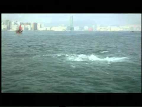 香港水域拍到奇異現象!難道真的有海龍王?