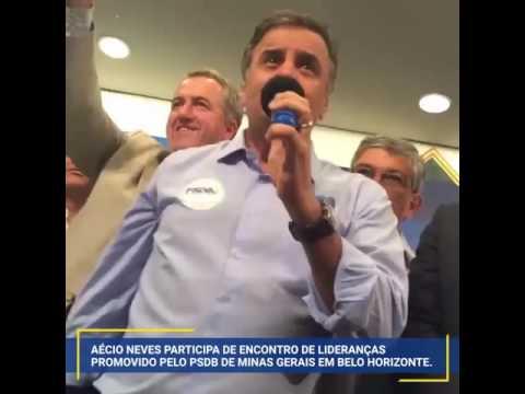 Aécio Neves participa de Encontro de Lideranças promovido pelo PSDB de Minas Gerais em BH