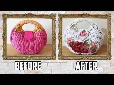 decoupage - how to changing a bag