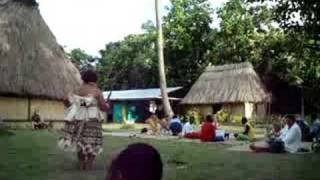 Fiji Lauren Doing The Meke Dance For The Chief